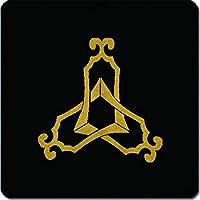家紋シール 三つ組み琴柱紋 24cm x 24cm KS24-1478