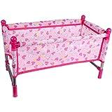 FLAMEER お世話パーツ ベッド ベビードール アクセサリー 耐久性 赤ちゃん人形用家具 ピンク