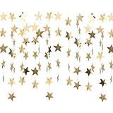 星 スターガーランド 誕生日 結婚式 飾り付け ペーパーガーランド フォトプロップス レターバナー スターデコレーションオーナメント 壁装飾 一本約4m 4本入