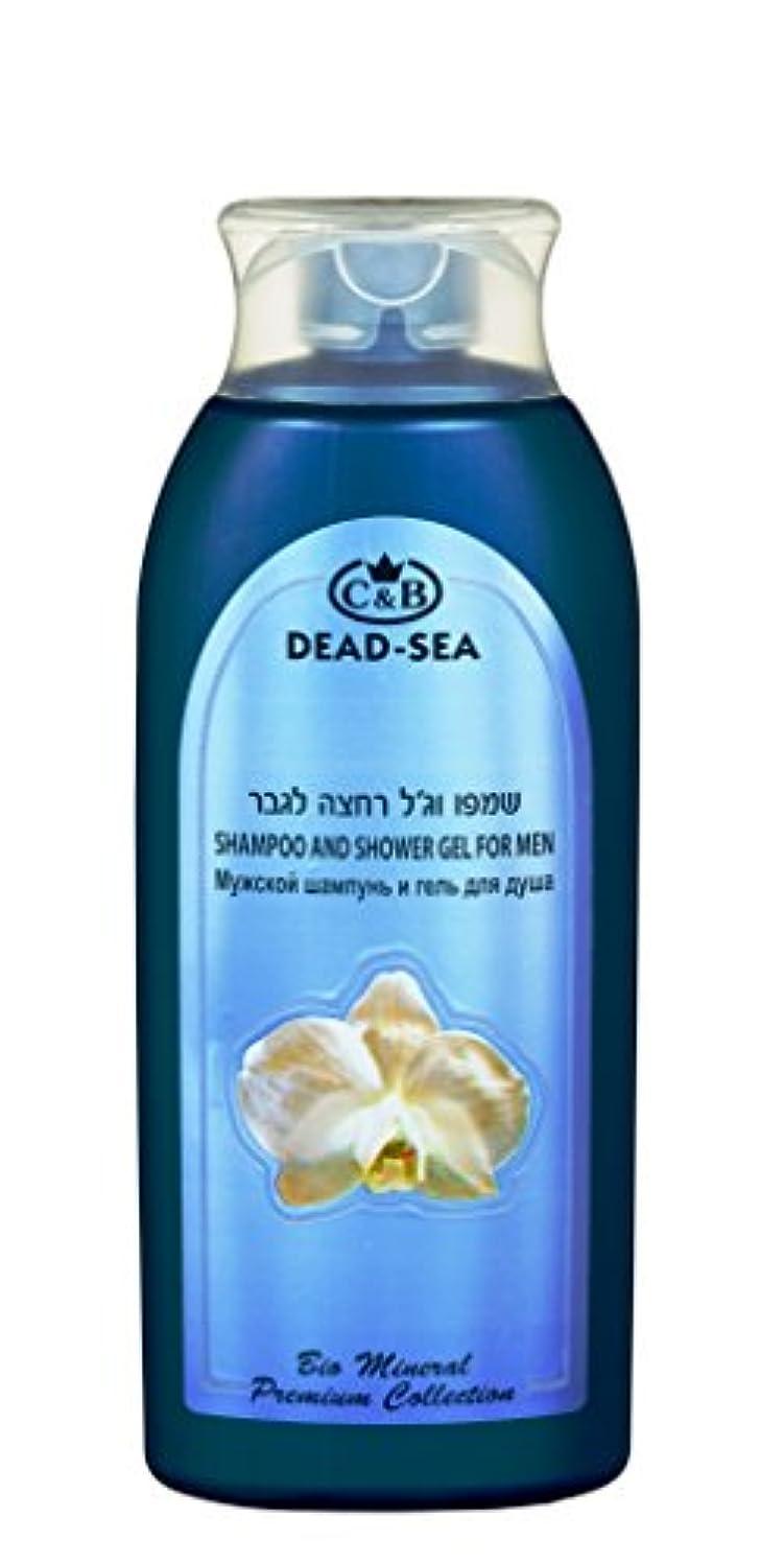 ジャンプするフルーツ野菜コマース男性用シャンプーとシャワー用ジェル 400mL 死海ミネラル (Shampoo and Shower gel for Men