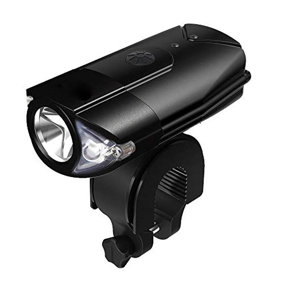 謎消化器器具充電式自転車ライト USB自転車ライトセット充電式、LEDヘッドライトの組み合わせ (Color : Black)