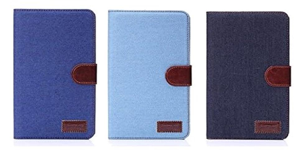 可聴なめらかなシャーロックホームズサムスン Samsung Galaxy Tab4 7.0 T230専用 ジーンズケース スタンド機能付き デニム生地カバー 3色「521-0020」 (ライトブルー)