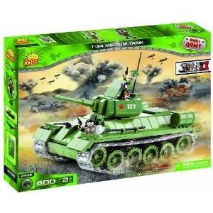 Small Army, World War II, Tank T34/76, armored unit, building bricks フィギュア おもちゃ 人形 (並行輸入)