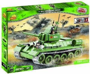 Small Army, World War II, Tank T34/76, armored unit, building bricks フィギュア おもちゃ 人形 (並行輸入)