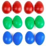 【ノーブランド品】マラカス エッグシェーカー 3色 12個セット