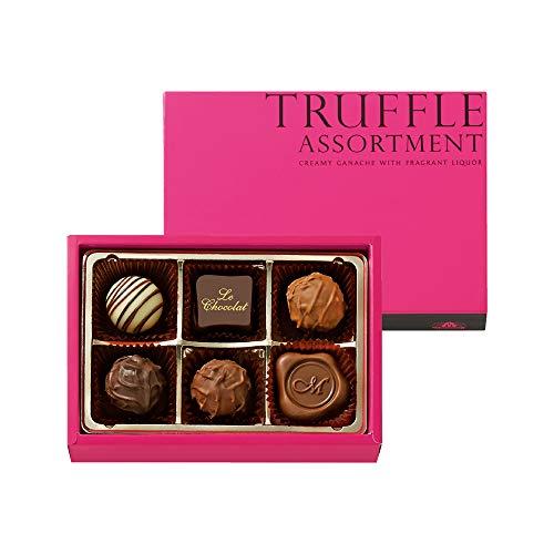 バレンタイン チョコレート 人気 モロゾフ トリュフ アソートメント (6個入り) 手提げ袋付き
