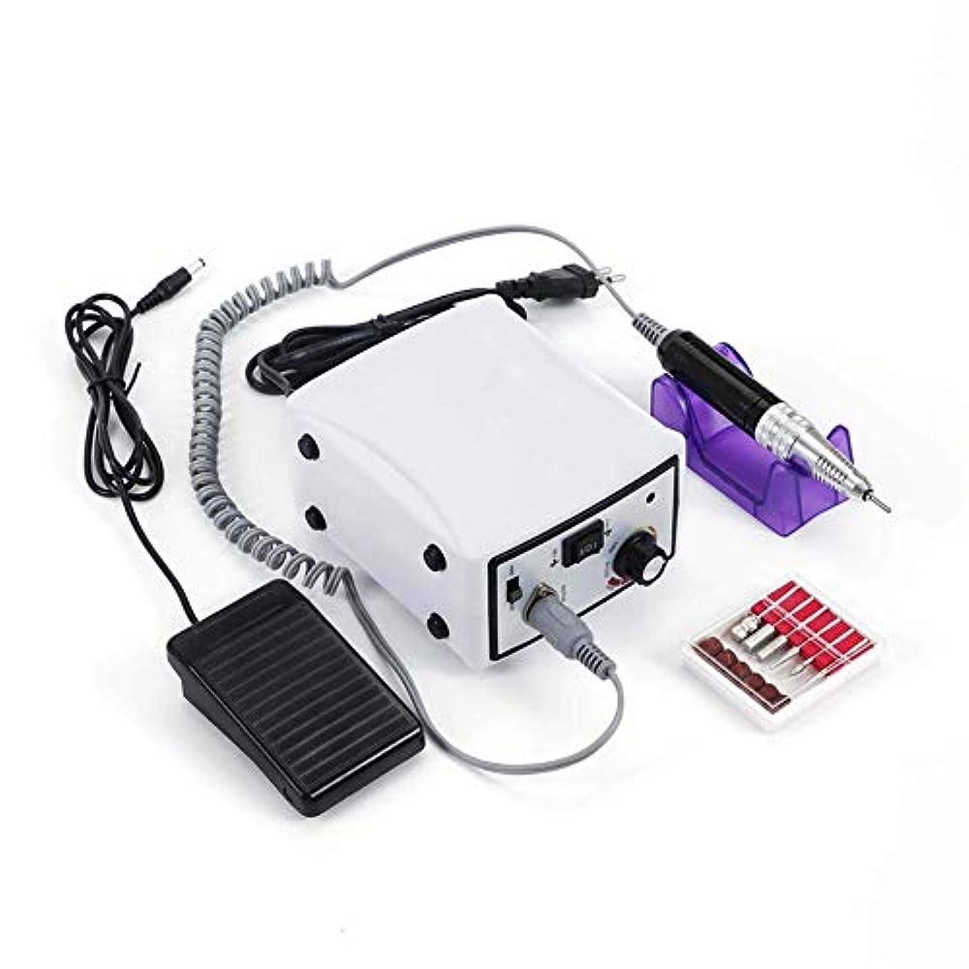 リダクターかすれた一月30,000 rpmマシンネイル電気ネイルドリルコードレスアクリルネイルドリルマシンマニキュアペディキュアアートパウダーポリッシャージェルネイルグラインダーツール、ホワイト