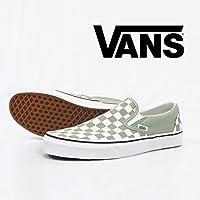 (バンズ) VANS CLASSIC SLIP-ON スリッポン チェック スニーカー シューズ ヴァンズ VN-0a38f7U79 9 セージグリーン×ホワイト