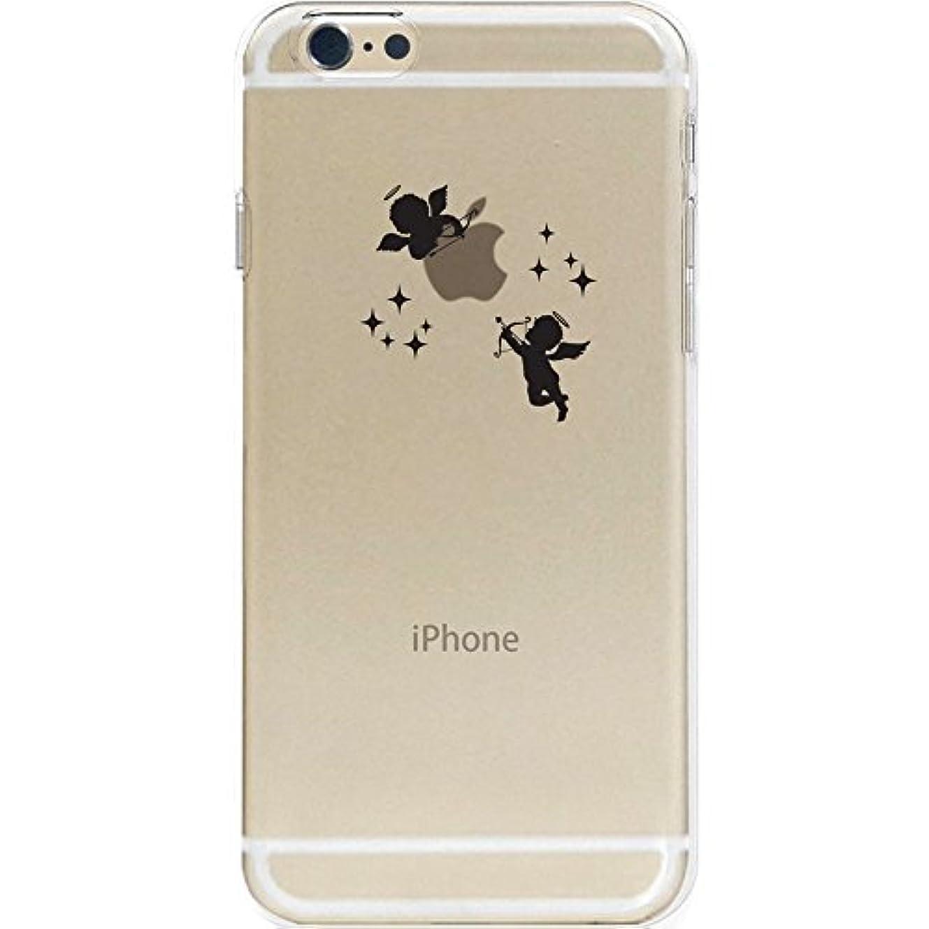 精通した小さなディーラーotas 5.5インチ対応(iPhone6s Plus/6Plus) カバー ハードケース ポリカーボネイト クリア 天使 888-36983