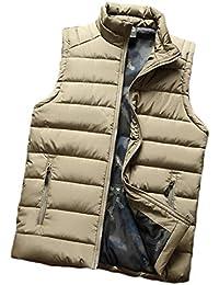 Aiweijia 男性 ベスト 厚い 暖かく保つ ベスト 男性 スリムフィット ジャケット ジッパー コート