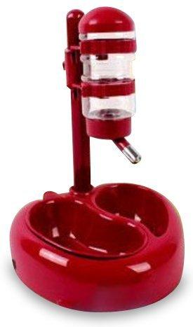 【 犬 猫 兼 用 】 自動 給水 器 セット ボール 式 ボトル 付き ステンレス 水 飲み 口 1箇所 カラー レッド 【I.T outlet】 MA-DOUMIZU
