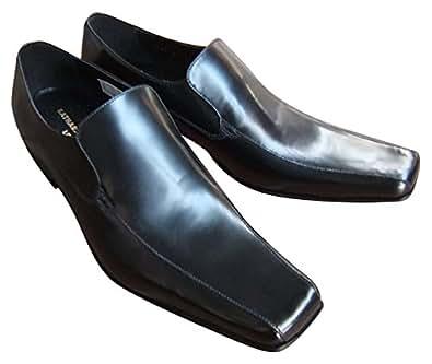 キャサリンハムネット KATHARINE HAMNETT 紳士靴 ビジネスシューズ ロングノーズ ヴァンプスリッポン 本革[ブラック]3946 (24.5)