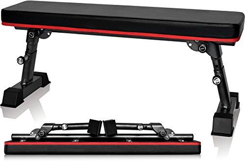 YouTen(ユーテン) フラットベンチ ダンベル 高さ調整可能 トレーニング 耐荷重300kg 折りたたみ式 折り畳...