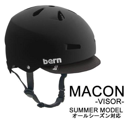 bern(バーン) bern バーン ヘルメット MACON バイザー オールシーズンモデル Matte Black Visor XXXL(62-63.5cm)