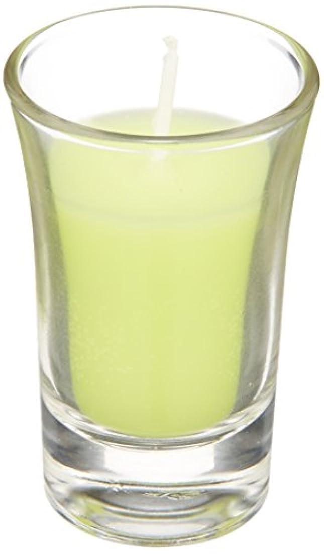 ラナンキュラスグラスキャンドル 「 ライトグリーン 」