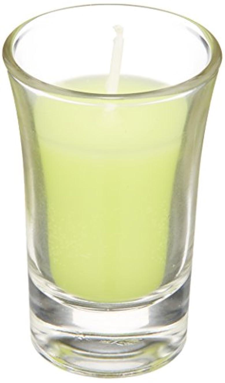 慎重印象派神話ラナンキュラスグラスキャンドル 「 ライトグリーン 」