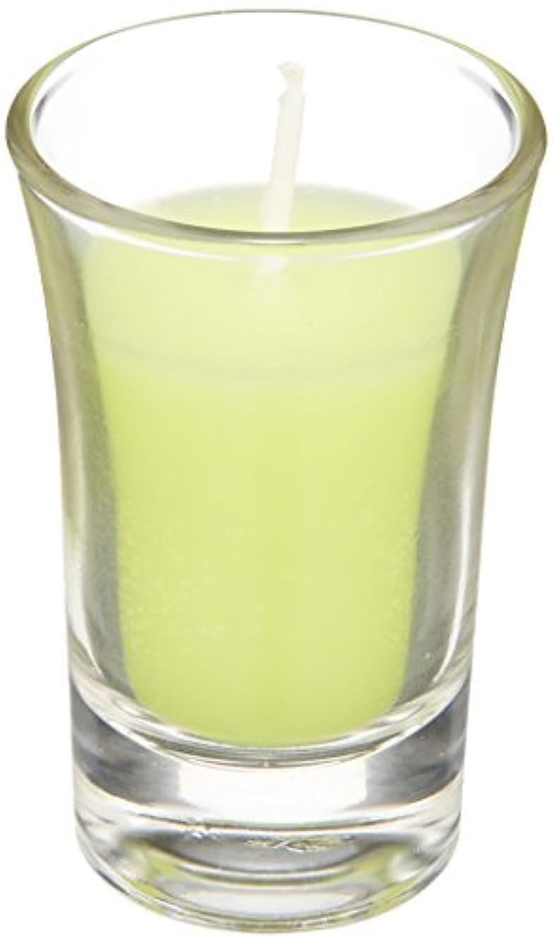 つぶやき仲人若いラナンキュラスグラスキャンドル 「 ライトグリーン 」