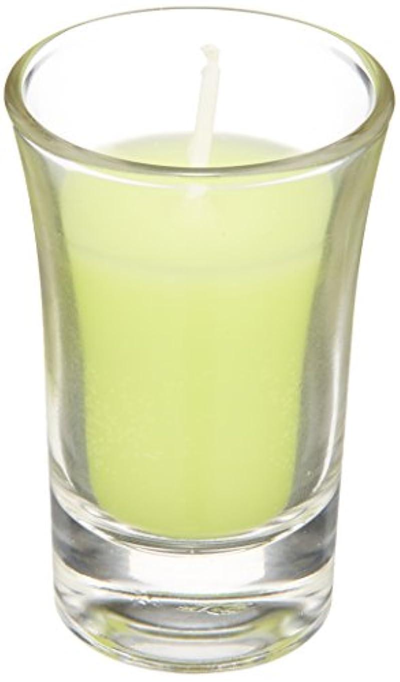 有効な資料有名ラナンキュラスグラスキャンドル 「 ライトグリーン 」