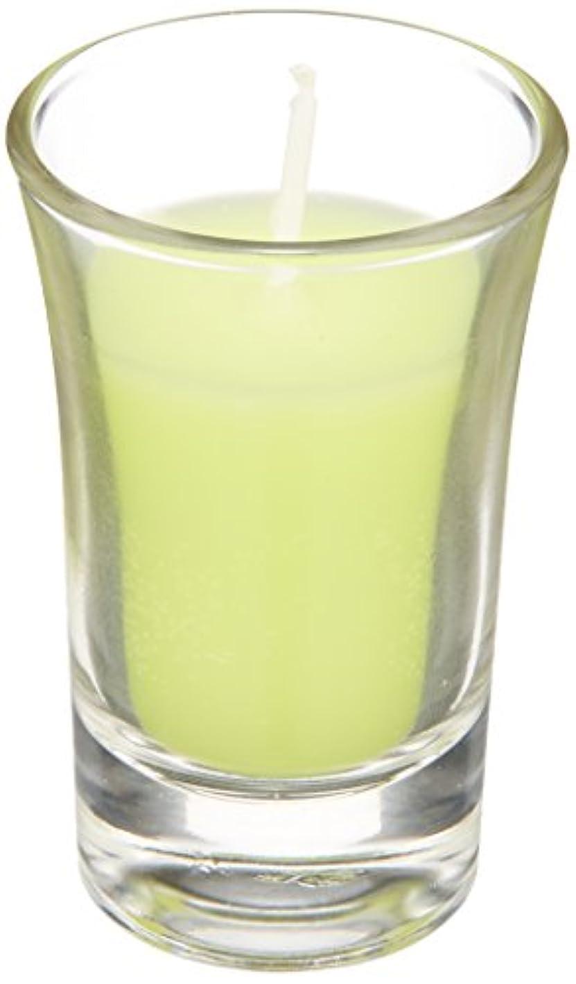 宙返り添加剤いらいらするラナンキュラスグラスキャンドル 「 ライトグリーン 」