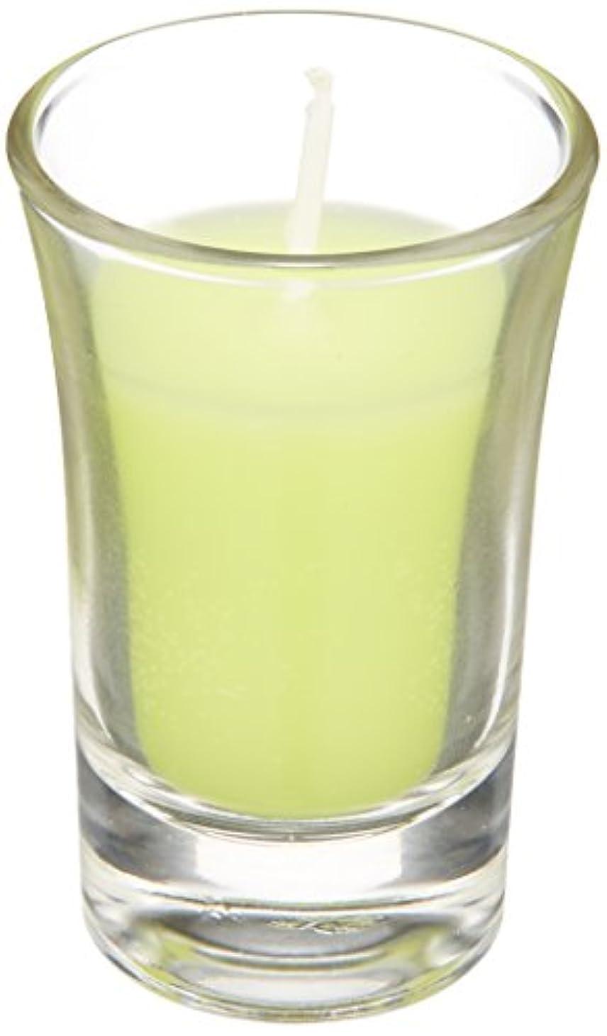 人気立方体眉ラナンキュラスグラスキャンドル 「 ライトグリーン 」