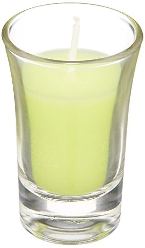 必要ない酸化物ラナンキュラスグラスキャンドル 「 ライトグリーン 」