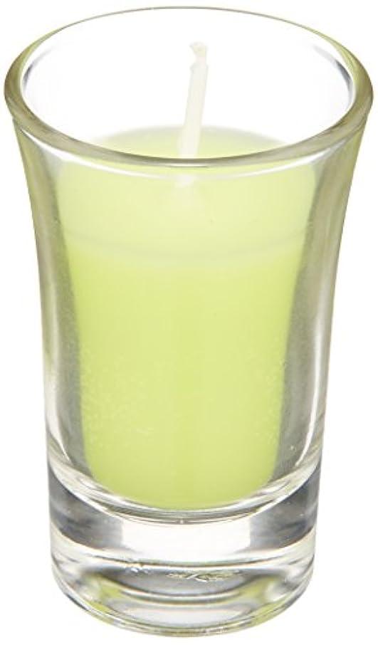 優れた荒らす偉業ラナンキュラスグラスキャンドル 「 ライトグリーン 」