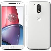 Motorola Moto G4 Plus XT1642 16GB Dual-SIM 4G/LTE Smartphone - International Version with No Warranty (White) [並行輸入品]