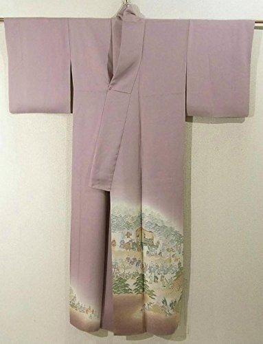 リサイクル 着物 色留袖 葵祭 正絹 袷 裄62cm 身丈158cm