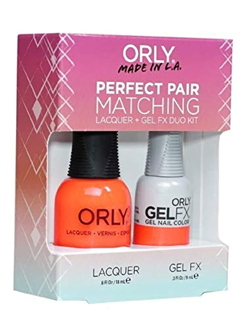 お別れ一貫したキノコOrly Lacquer + Gel FX - Perfect Pair Matching DUO Kit - Orange Sorbet