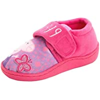 Peppa Pig Pink and Violet Touch Fastening Slippers