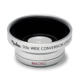 ビデオカメラ用 広角 0.6倍 ワイドコンバージョンレンズ「My Lens(マイ・レンズ)シリーズ」【レンズ径 25mm、28mm、30mm、30.5mm、34mm、37mm 対応】Full HD VIDEO対応