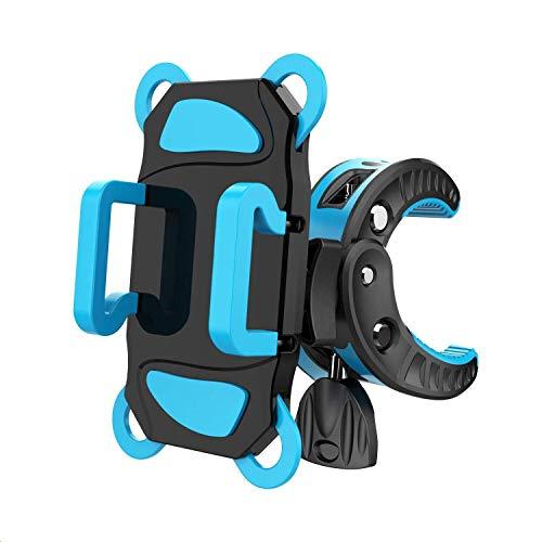 自転車ホルダー スマホホルダ 自転車/バイク用スタンド 携帯ホルダー マウントキット フレーム クリップ式ホルダー シリコンバンド GPSナビ 360度回転 二重保護 脱落防止 多機種対応 一年間の保証 DBPOWER