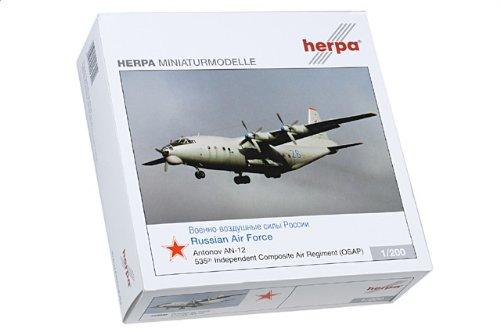 1:200 ヘルパ ウィングス 553940 Antonov An-12 Cub ダイキャスト モデル Russian Air Force 535th アビエーション Rgt #26 Rosto【並行