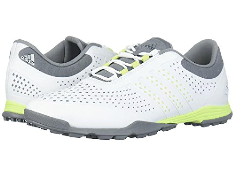(アディダス) adidas レディースゴルフシューズ?靴 Adipure Sport Footwear White/Semi Frozen Yellow/Grey Three 9.5 (26.5cm) B - Medium