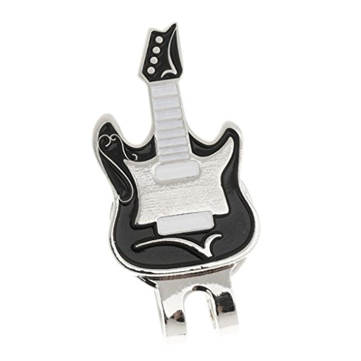 華氏少年続けるギター型 ハットクリップ付 ゴルフ ボールマーカー 磁気 ゴルフキャップ ギフト