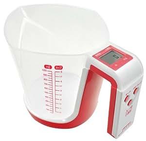 ドリテック デジタル計量カップ ファリーヌ 1kg ピンク CS-100PK