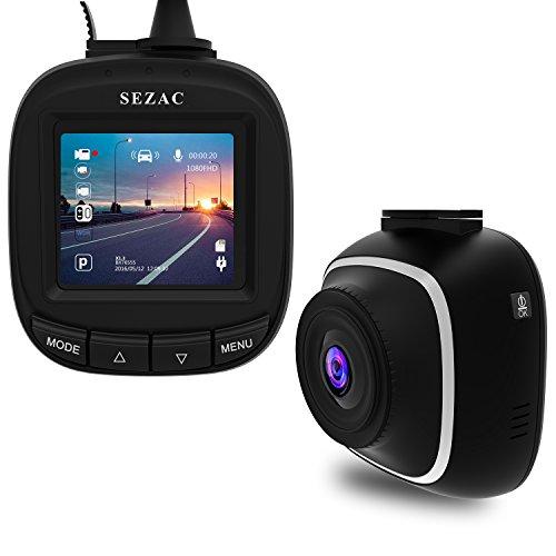 SEZACドライブレコーダー 小型ドラレコ 1080PフルHD 1200万画素 WDR 駐車監視 衝撃録画 高速起動 車載カメラ 防犯カメラ 日本語説明書付き
