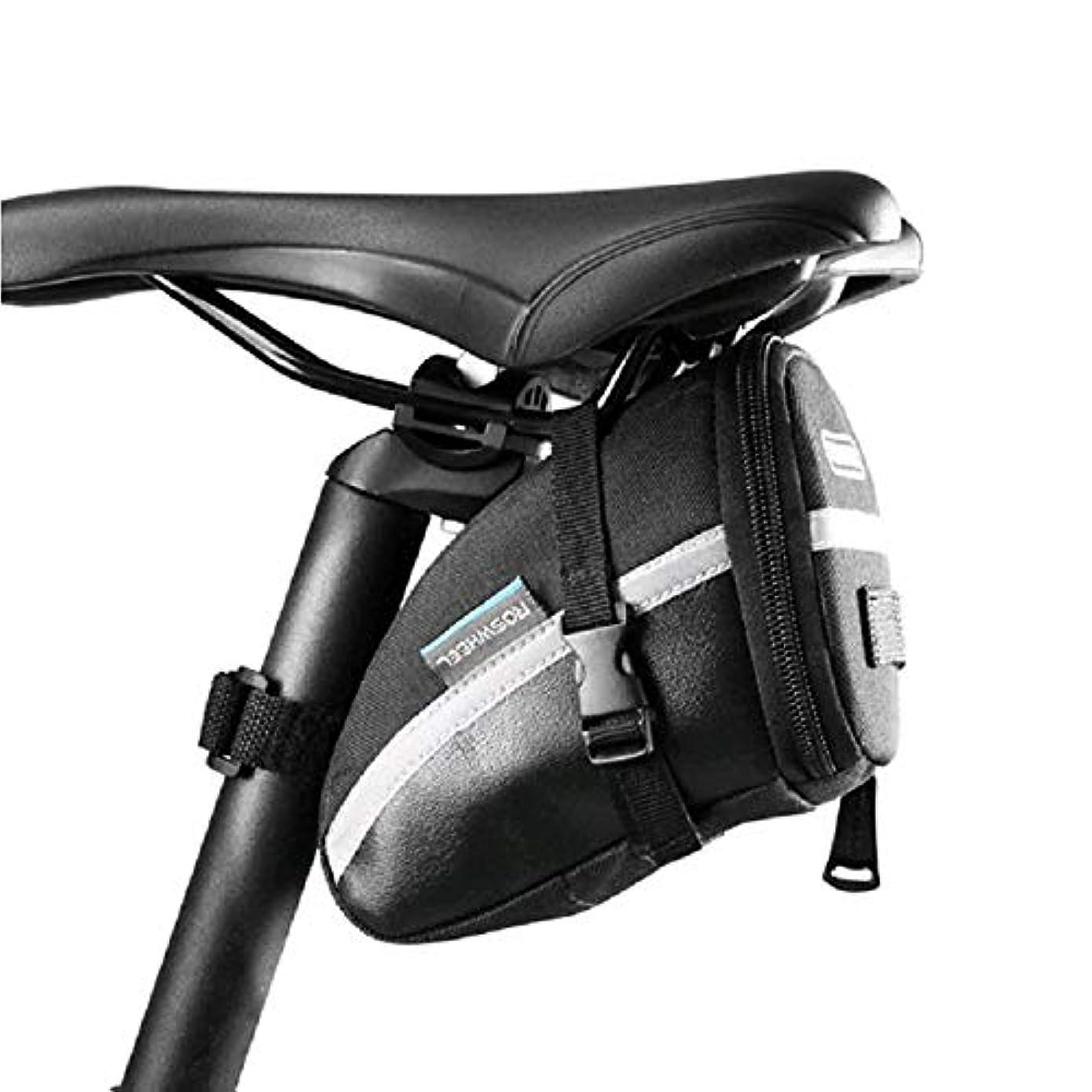 プール厚くする理想的自転車ストラップオン自転車サドルバッグ/自転車シートパックバッグ、サイクリングウェッジ形状バッグ