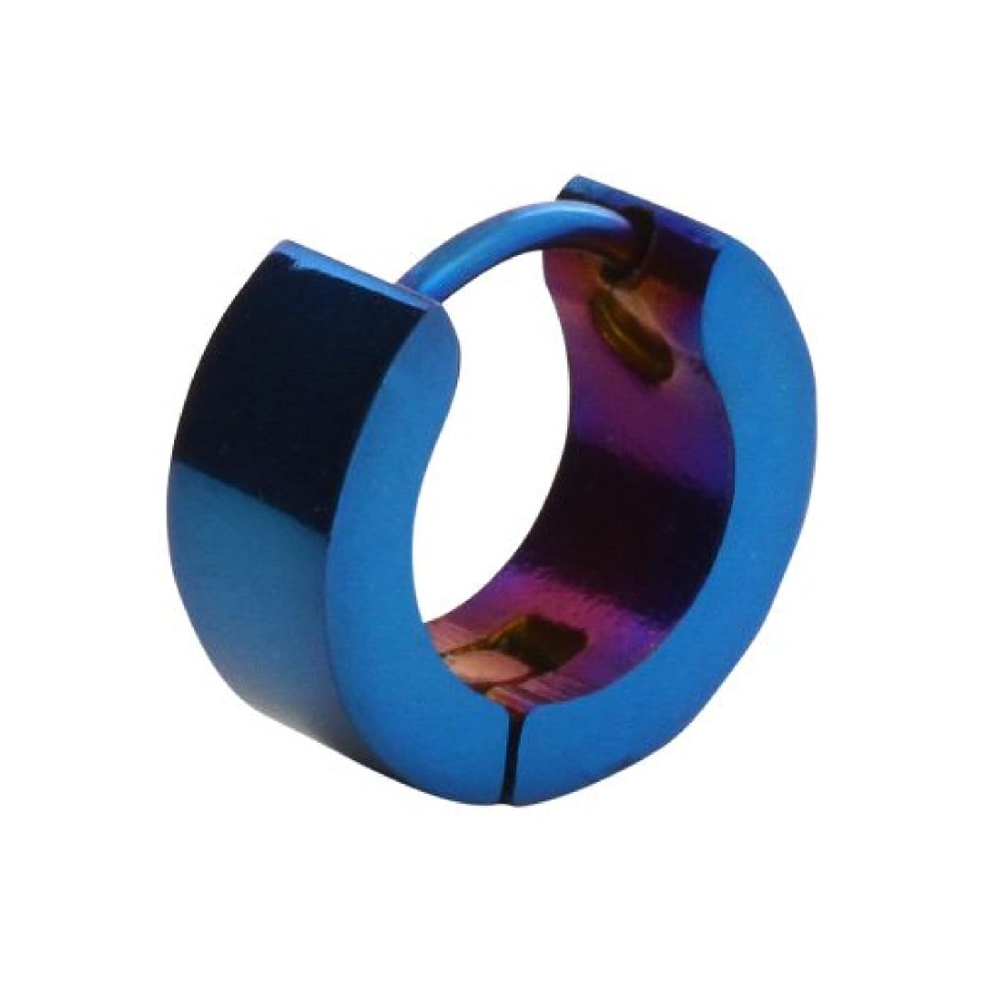 スクレーパー売上高パラシュートBinich (ビニッチ) ブルーラインスモールスチールフープ ピアス 片耳用(1個売り)