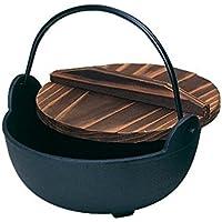 砺波商店 鉄製いろり鍋木製蓋付30cm 100-18