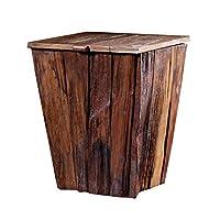 ヴィンテージ木製ごみ箱、リビングルームキッチンホテルレストラン覆われたごみ箱26 * 26 * 35CM (サイズ さいず : 26*26*35CM)