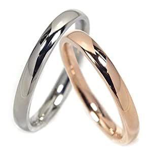 指輪 ペアリング 2.5mm 刻印 可能 ステンレス 名前 甲丸 2個 セット カップル
