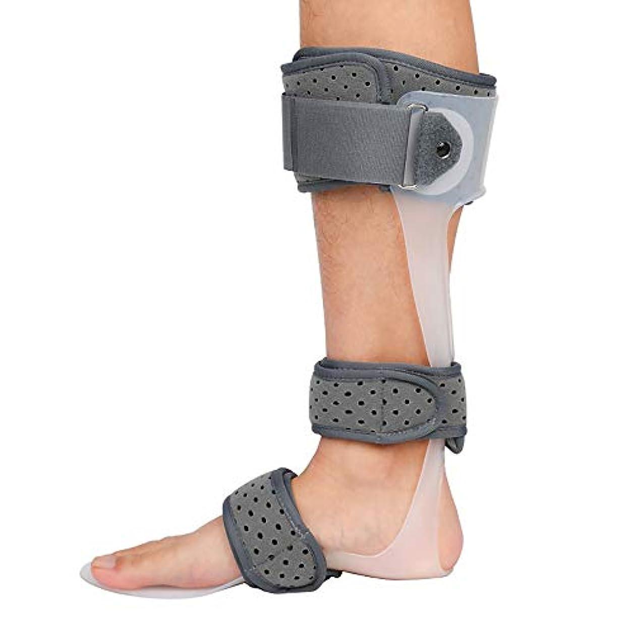 ピボット汗締め切り足首装具フットドロップブレース、足首スタビライザーブレース、足ドロップ副木、足首保護用補正ブレース