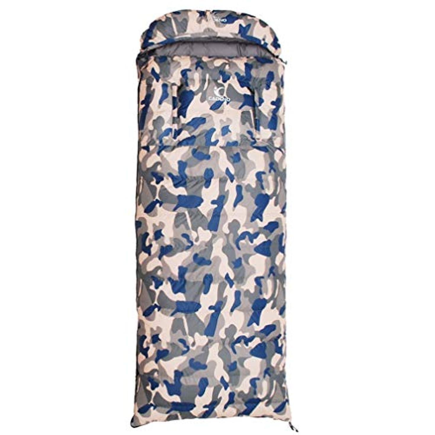 不条理偽善施し迷彩四季寝袋大人の屋外防水超軽量キャンプポータブルコールド寝袋シングルダブル使用5/20°C (色 : ブラック)