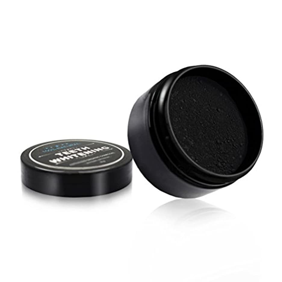 ストレッチ子清めるROSENICE 口腔ケアのためのチャコールホワイトニング竹炭粉末天然歯(黒)