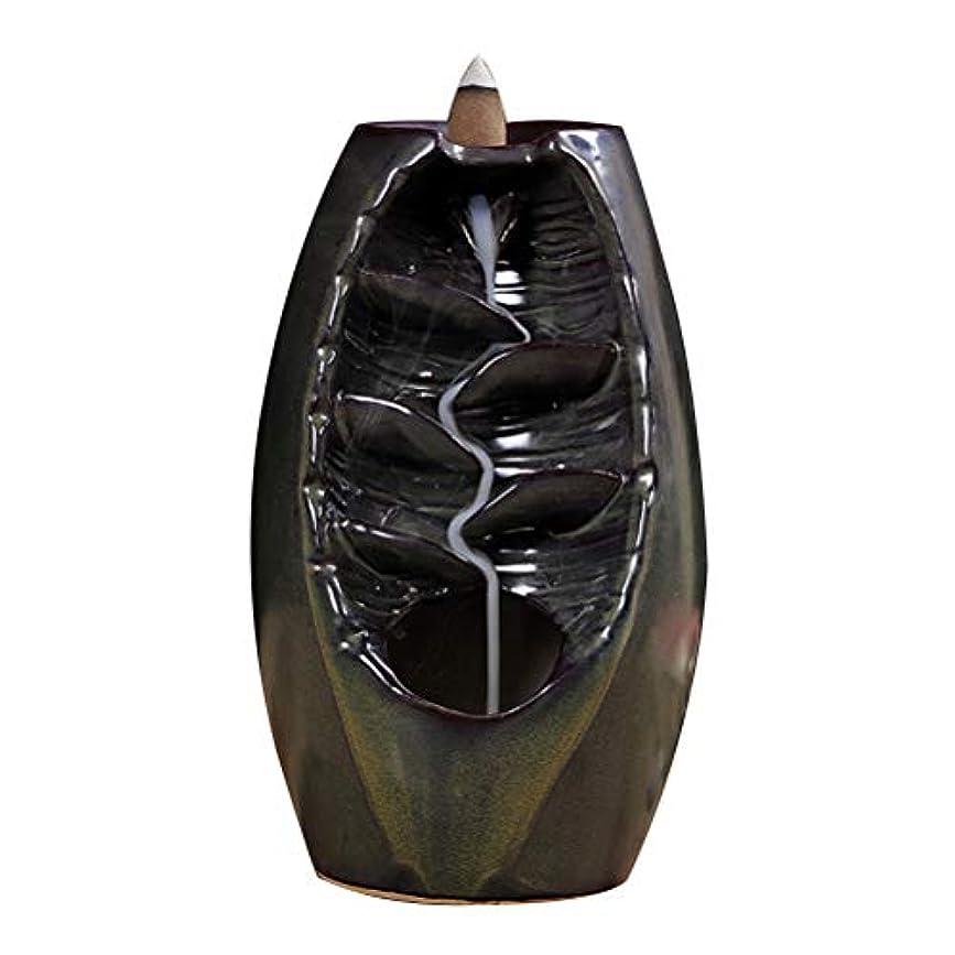 レキシコン空昼寝Vosarea 逆流香バーナー滝香ホルダーアロマ飾り仏教用品(茶)