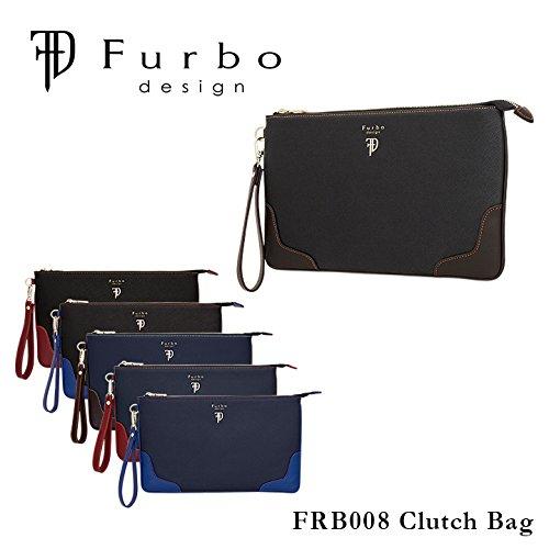 (フルボデザイン)Furbo design クラッチバッグ FRB008 ミラノ ネイビー×ワイン