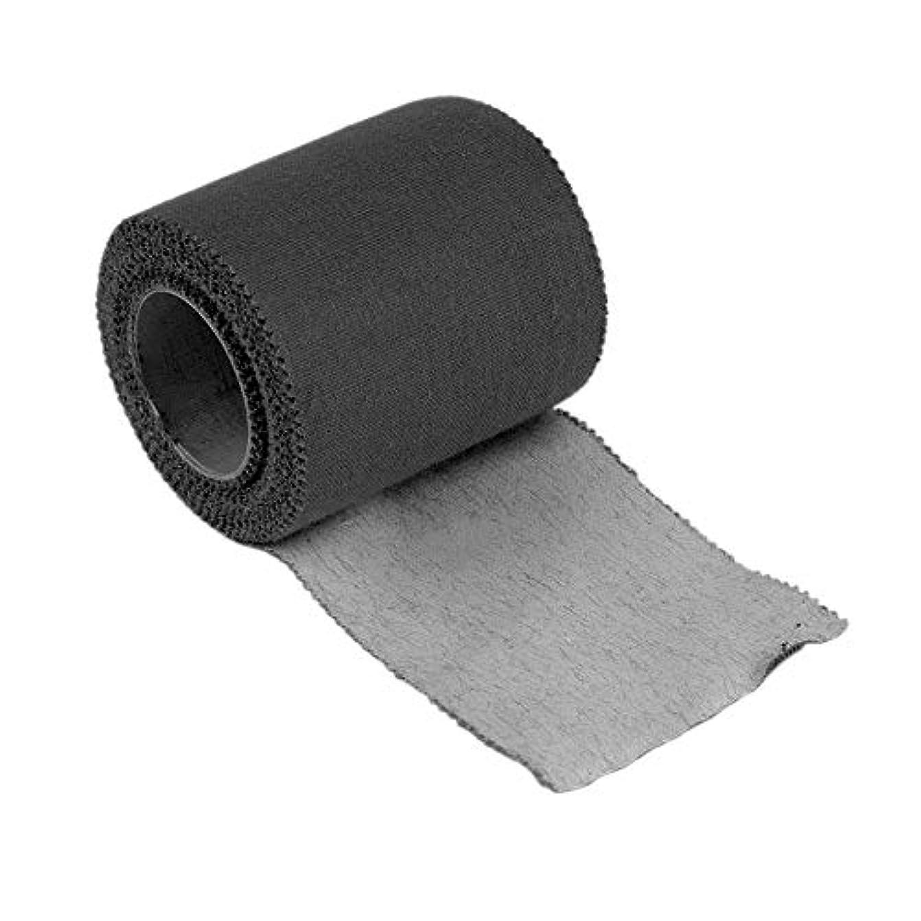 花輪乳白色ナラーバー5センチ* 5メートル治療用保護テープスポーツフィジカル筋肉ケアラップ包帯ストラップ捻挫&ひずみを制限するひずみ(Color:Black)(Size:5cm*5m)