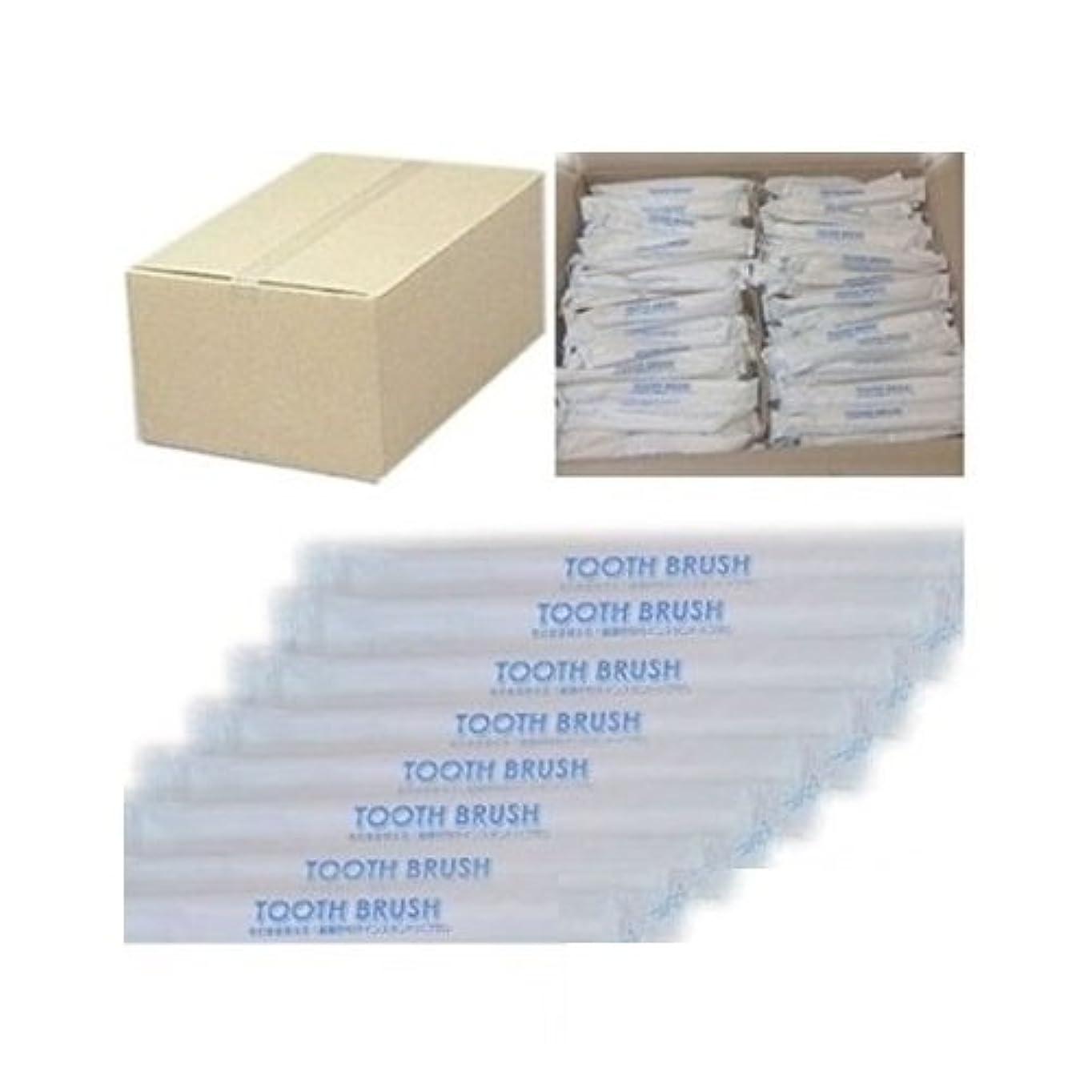 モットーしなやかな風邪をひく業務用 使い捨て(インスタント) 粉付き歯ブラシ(100本組)