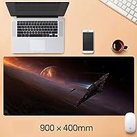 ゲーミングマウスパッド、マウスパッド、3 mm厚ベースの拡張大型マウスマット、ノートブック用、PC-複数のサイズが利用可能 LIUXIN (Color : B, Size : 900mm×400mm-3mm)